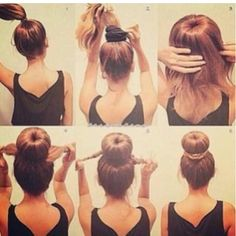Who knew right?!? .. For all those girls with long Hair.. Buns are a quick and easy way to get an amazing look.. Specially for those days that you don't want or you just don't have enough time to flat iron or curl the hair.. Easy step by step Hair bun..