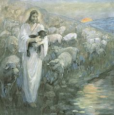 Rescue of the Lost Lamb, by Minerva Teichert