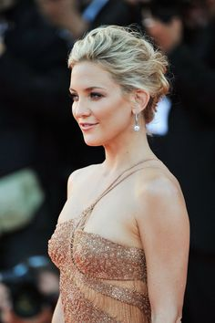 Wedding Hairstyles: Up 'dos: If you want hassle-free hair for your big day, sweep it all back like Kate Hudson. We love that it's still messy and would happily (ever after) move with the day's events.