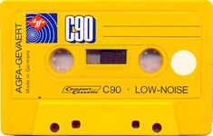 Yellow Agfa cassette tape