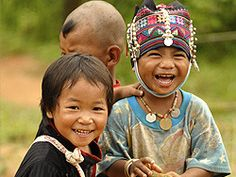 Children from the tribes we worked with in Thailand :)