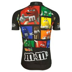 M&Ms® Candy Black De Stijl Cycling Jersey > Brainstorm Gear