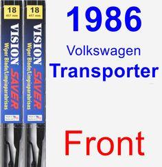 Front Wiper Blade Pack for 1986 Volkswagen Transporter - Vision Saver