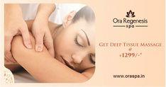 Enjoy our Trail Offer on Deep Tissue Massage @Rs 1299/- only at Ora Regenesis Spa Book Now: http://www.oraspa.in #Aundh: +91 9922 800 031 / +91 9922 900 031  #KalyaniNagar: +91 88888 00014  #Kondhwa: +91 77760 26789 / 77750 26789  #Bandra:+91 8451888819 / +91 8451888820  #DeepTissueMassage #Spa #Massage