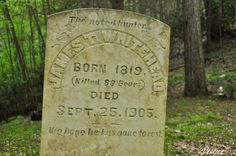 """""""Killed 99 Bears"""" -- Hope my tombstone says something as manly as this. (It probably won't.)"""