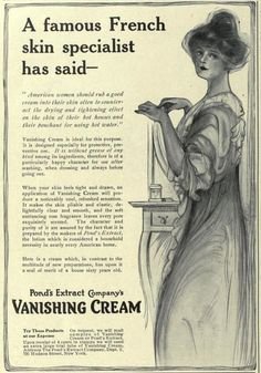 1913  - Pond's Vanishing Cream