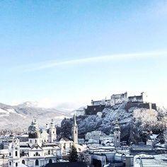 Blauer Himmel macht den Winter eindeutig schöner! .  #winter #salzburg #fairytale #fromabove #igerssalzburg #igersaustria #salzburgcity #hometown Salzburg, San Francisco Skyline, Instagram, Winter, Travel, Heavens, Nice Asses, Winter Time, Viajes