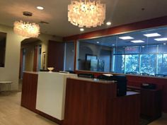 Another great install of In2Design's reception desk at Regus Kierland Commons in Scottsdale.