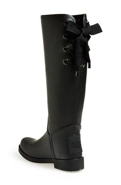 RIBBON IS SO CUTE. ALREADY HAVE BOOTS THOUGH   COACH 'Tristee' Waterproof Rain Boot   Nordstrom