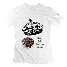 LianJian Oreo Cookie Keep Calm And Love Oreos Women's T-Shirt XX-Large White Womens *** To view further for this item, visit the image link.
