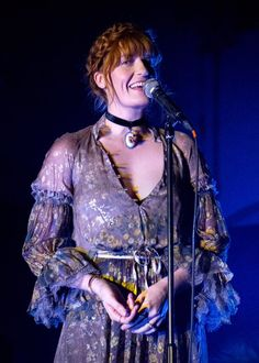 Florence + the Machine performing an all-acoustic set in London at War Child UK at St John at Hackney