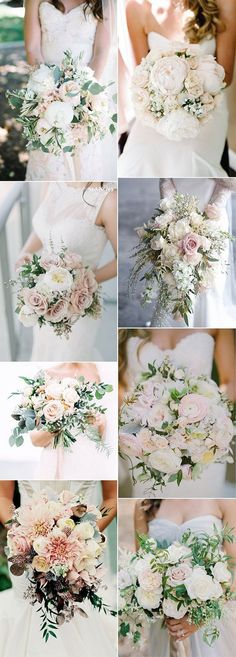 Top 15 Blush Pink Wedding Bouquets for Spring 2020 - EmmaLov .-Top 15 Blush Pink Wedding Bouquets for Spring 2020 – EmmaLovesWeddings Bridal bouquet ideas for spring and summer 2018 - Spring Wedding Bouquets, Bride Bouquets, Bouquet Wedding, Flower Bouquets, Wedding Dresses, Floral Wedding, Wedding Colors, Trendy Wedding, Wedding Ideas