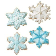 Warm Winter Snowflake Cookies ❤ liked on Polyvore featuring christmas, filler, food и food and drink
