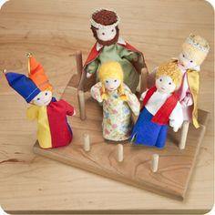 Waldorf Finger Puppets / Dollhouse Dolls: Palumba