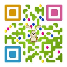 QR code: Happy Easter! Created by iQR codes.