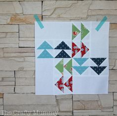 modern quilt along follow the leader block