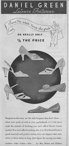 Seven lovely, very wearable 1930s slipper and shoe styles. #vintage #1930s #shoes #slippers #ad #fashion