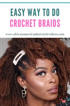 Make like fun again with these #crochet #braids Sisterlocks, Cornrows, Crochet Braids, Easy Crochet, Natural Hair Journey, Life Is Short, Protective Styles, Simple Way, Hair Looks