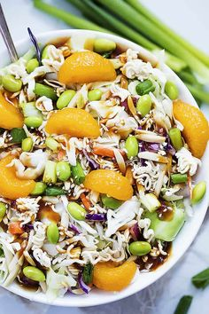 This ultra-popular Asian Ramen Noodle Salad is a twist on an old classic innovated with edamame, mandarin oranges, and the BEST teriyaki dressing! Mayo Pasta Salad Recipes, Best Salad Recipes, Slaw Recipes, Summer Salad Recipes, Summer Salads, Healthy Recipes, Asian Ramen Noodle Salad, Ramen Noodles, Coleslaw Mix