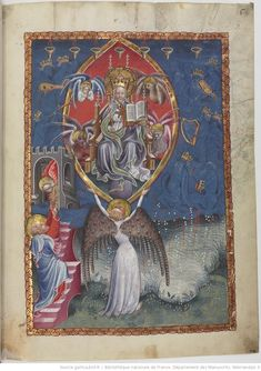Apocalipsis in dietsche Apocalypse, Frame Of Mind, Bnf, Medieval Art, 15th Century, Illuminated Manuscript, Antique Art, Middle Ages, Religion