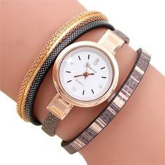 cde392a3dc3 Fashion Women diamond bracelet watches Wrap Relógios Femininos