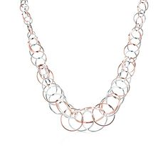 Tiffany & Co. | Item | Tiffany 1837™ interlocking circles necklace in RUBEDO™ metal and silver. | United States