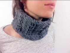 ▶ How to Loom Knit a Cabled Cowl (DIY Tutorial) - YouTube