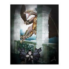 Shop The Dragon's Lair Acrylic Print created by WhimsicalArtwork. Acrylic Wall Art, Wood Wall Art, Wall Art Decor, Dragon's Lair, Fantasy Gifts, Fantasy Dragon, Surreal Art, Faeries, Surrealism