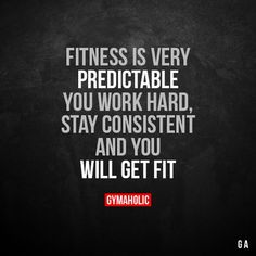 Fitness is very predictable You work hard, stay consistent and you will get fit. More motivation: https://www.gymaholic.co #fitness #motivation #gymaholic