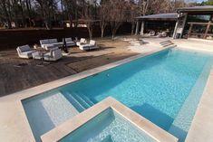 Beatuiful modern style swimming pool on Lake Tyler modern swimming pools and spas
