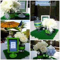 Golf Themed Baby Shower- ideas for food, decorations, and party favors