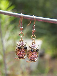 Owl Earrings Womens earrings Teen Girl Earrings by PjCreates, $15.00