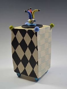 Jester Box by Vaughan Nelson: Ceramic Box available at www.artfulhome.com