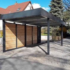 Metal Carport Kits, Carport Sheds, Carport Patio, Carport Garage, Boat Garage, Wooden Carports, Carport Modern, Double Carport, Houses