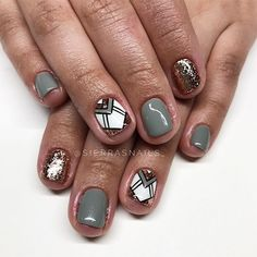 Like + comment for a chance to win a discounted appointment with me! Short Nail Designs, Toe Nail Designs, Glam Nails, Hot Nails, Indian Nails, Color For Nails, Geometric Nail Art, School Nails, Happy Nails