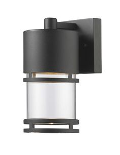 Features:  -Includes clear glass shades.  -Accommodates: 1 x 6W integrated module (not included).  -Luminata collection.  Fixture Type: -Sconce.  Fixture Material: -Metal.  Shade Material: -Glass.  Bu