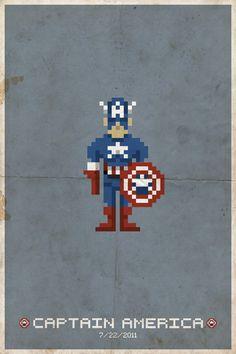 Pixel Heroes - Pixel Art Superhero movie posters