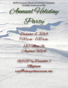 Snow Landscape Invitations or Christmas Cards