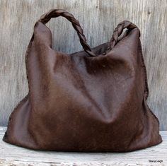 Distressed Brown Soft Slouchy Hobo
