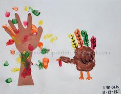 Handprint Turkey & Fall Tree Thanksgiving Craft for kids #keepsake