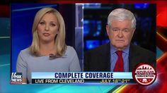 Newt Gingrich 7/13/16: Donald Trump Fox News Show