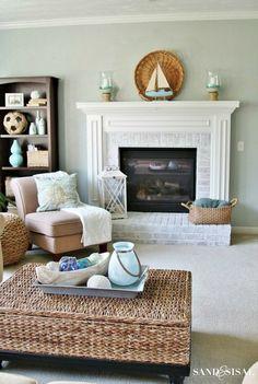 Creative And Inexpensive Useful Ideas: Coastal Style Cottage coastal pattern light fixtures. Beach Cottage Style, Coastal Cottage, Coastal Homes, Beach House Decor, Coastal Style, Coastal Decor, Beach Homes, Modern Coastal, Coastal Farmhouse
