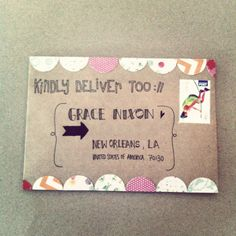 cute snailmail inspiration... Kinda messy but I could clean the idea up a bit
