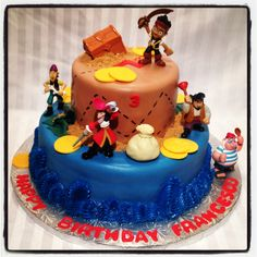 Jake and the Neverland Pirates  Chocolate cake with chocolate buttercream !