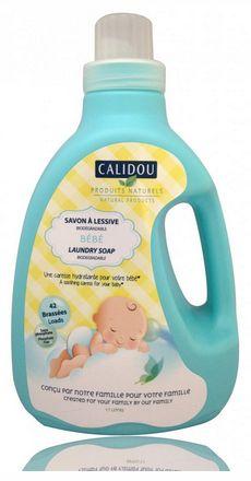 La peau de bébé est douce et délicate. C'est pourquoi nous avons conçu le savon à lessive Calidou pour nettoyer et hydrater en douceur tout ce qui entoure bébé : couches, vêtements, draps, serviettes, etc. Il ne laisse aucun résidu et aide ainsi à conserver l'hydratation naturelle de la peau. Notre savon à lessive cajole votre bébé en douceur.
