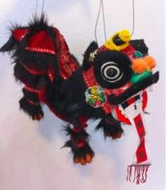 Amazon.com: Chinese New Year Lion Dragon Dance Puppet: Toys & Games