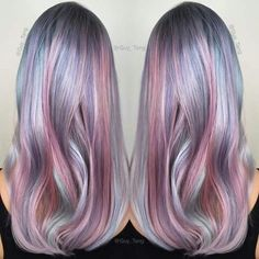 #hairstyle #metallic #colors #cute #gorgeous #lilac #rose #silver #cabelofantasia