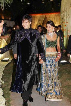 Wedding Reception of Bollywood Actor Vivek Oberoi and his bride Priyanka Alva *