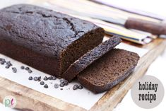 Cocoa Gingerbread Loaf (gluten free, soy free, nut free, corn free)