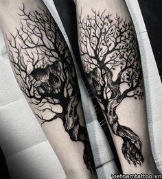 40 Skull Tree Tattoo Designs For Men - Cool Ink Ideas - . - 40 Skull Tree Tattoo Designs For Men – Cool Ink Ideas – Man Style Tree Tattoo Men, Tree Tattoo Designs, Skull Tattoo Design, Skull Tattoos, Body Art Tattoos, Sleeve Tattoos, Cool Tattoos, Male Leg Tattoos, Portrait Tattoos